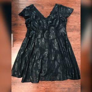 Black sheeny Cocktail dress from Torrid